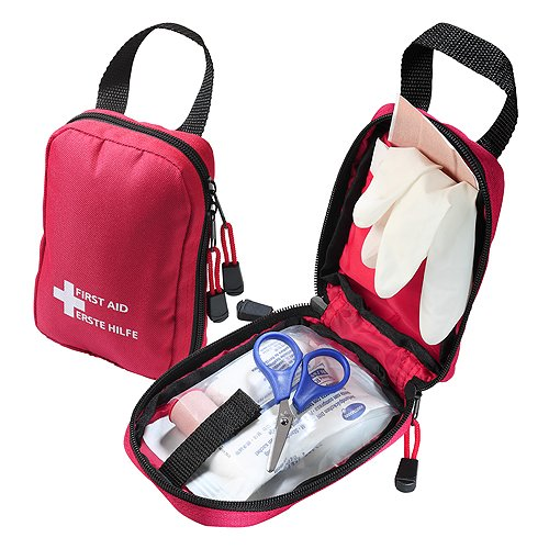 Notfallset / Erste-Hilfe-Set befüllt mit Qualitätsartikeln von Hartmann 7-teilig