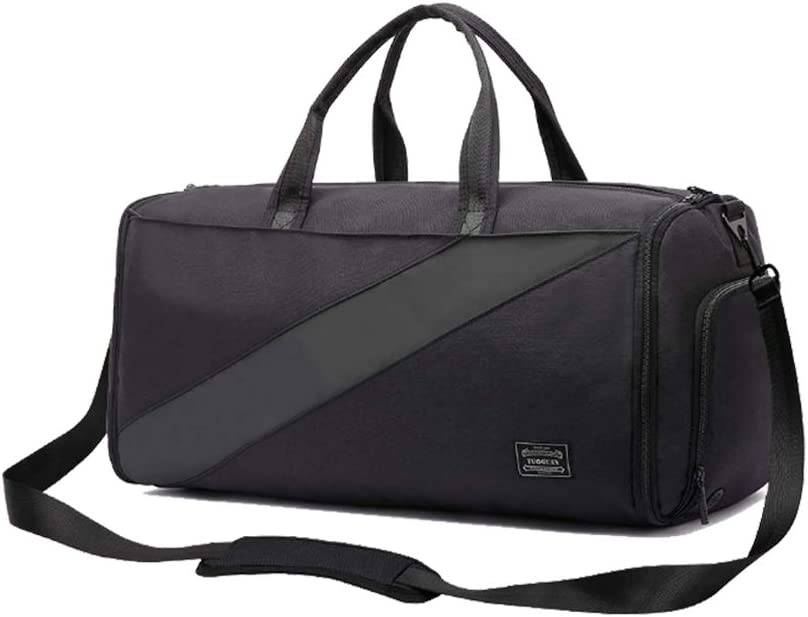 V Vitoria Convertible Garment Suit Bag Foldable Carry On Duffel Bag for Travel Sports Gym with Shoes Deparment Black