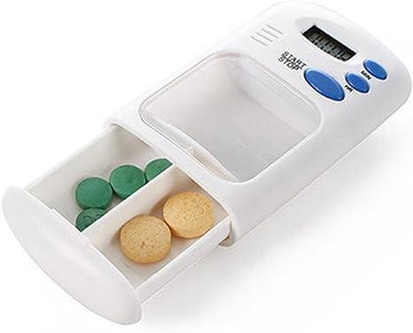 jiyoujianzhu 2 Rejillas de Medicina eléctrica, Caja con recordatorio de Temporizador de Alarma, 1 Color, Blanco: Amazon.es: Deportes y aire libre
