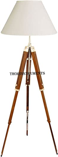 Thor Classical Designer Marine Tripod Floor Lamp Retro Vintage Wooden Tripod Lamp Lamp shade is not included