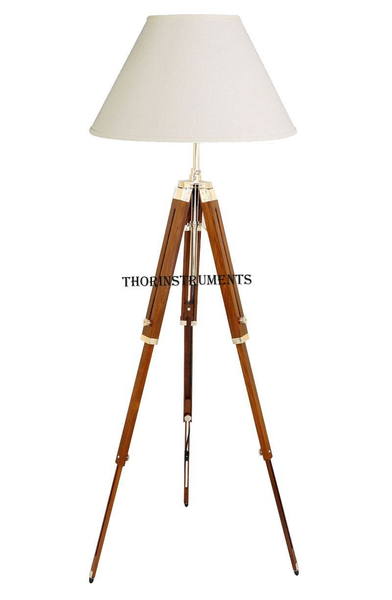 wood antique lightings tripod base lamp freak marts a shop floor wooden