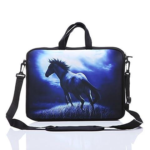17-inch Laptop Shoulder Sleeve Messenger Bag Case With Handles and extra side pocket For 16