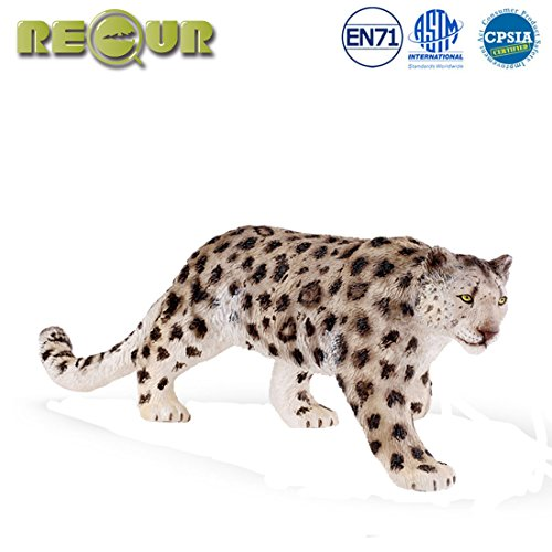 - RECUR Toys Snow Leopard Action Figure Toys, Soft Hand-Painted Skin Texture Toys for Kids- 1:8 Scale Realistic Design Female Snow Leopard Replica 10.4'', Ideal for Collectors, Ages 3 and Up