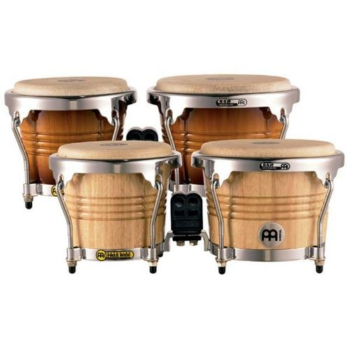 Meinl Percussion FWB200GAB Free Ride Series Wood Bongos, Gold Amber Sunburst Finish by Meinl Percussion