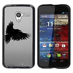 Paccase / SLIM PC / Aliminium Casa Carcasa Funda Case Cover para - raven death deep writing nature bird - Motorola Moto X 1 1st GEN I XT1058 XT1053 XT1052 XT1056 XT1060 XT1055