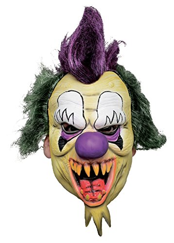 Morbid Enterprises Killer Clown Mask, Multi-Color, One