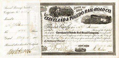 Cleveland & Toledo Railroad signed by Addison G. Jerome