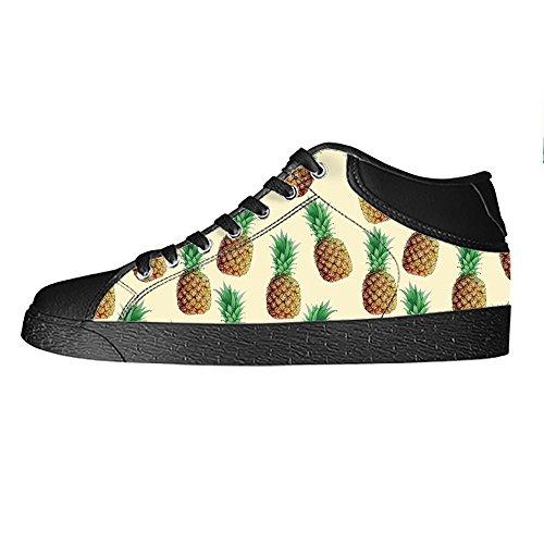 Custom Fumetto di ananas Mens Canvas shoes I lacci delle scarpe in Alto sopra le scarpe da ginnastica di scarpe scarpe di Tela.
