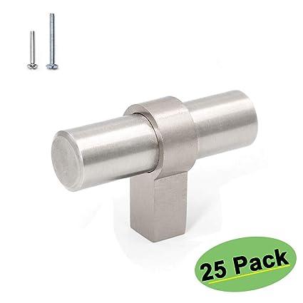 Amazon.com: Homdiy - Pomos de níquel satinado para gabinetes ...