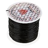 Mmrm 0.8mm 60m/roll Elastic Stretch Crystal String Cord for Jewelry Making Bracelet Beading Thread (Black)