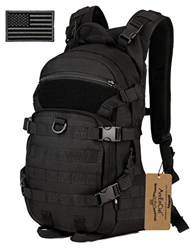 ArcEnCiel 25L Tactical Motorcycle Cycling Backpack Military Molle Pack Helmet