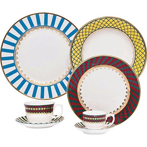 Oxford 7891361890484 42 Piece Flamingo Dinnerware Set, St. Basil - Oxford Bone China
