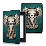 Anvas Case for Kindle Paperwhite 10th Gen 2018,Thinnest Light Shell Smart Cover with Auto Wake/Sleep for All-New Amazon Kindle Paperwhite 6 Inch 2018 Release, Music Elephant