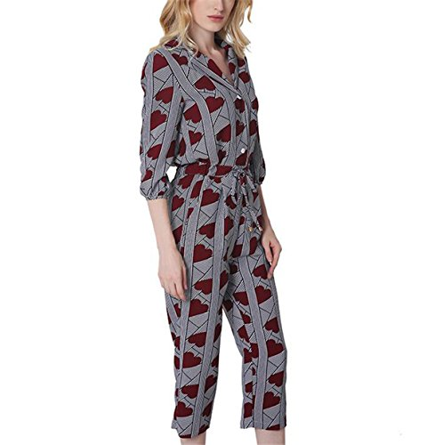WoooInn Fashion Women Vintage Hearts Print Strap Lace Casual Loose Plus Size Jumpsuits at Amazon Womens Clothing store: