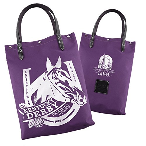 2015 Kentucky Derby 141 Officially Licensed Tote Bag Churchill Downs Racehorse Motif - Rebecca Bags Ray