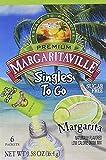Margaritaville Singles to Go Water Drink Mix Flavored Non-Alcoholic Powder Sticks, Margarita, 6