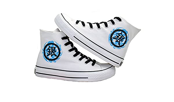 Gintama Cosplay Shoes Canvas Shoes Casual Shoes Sneakers White