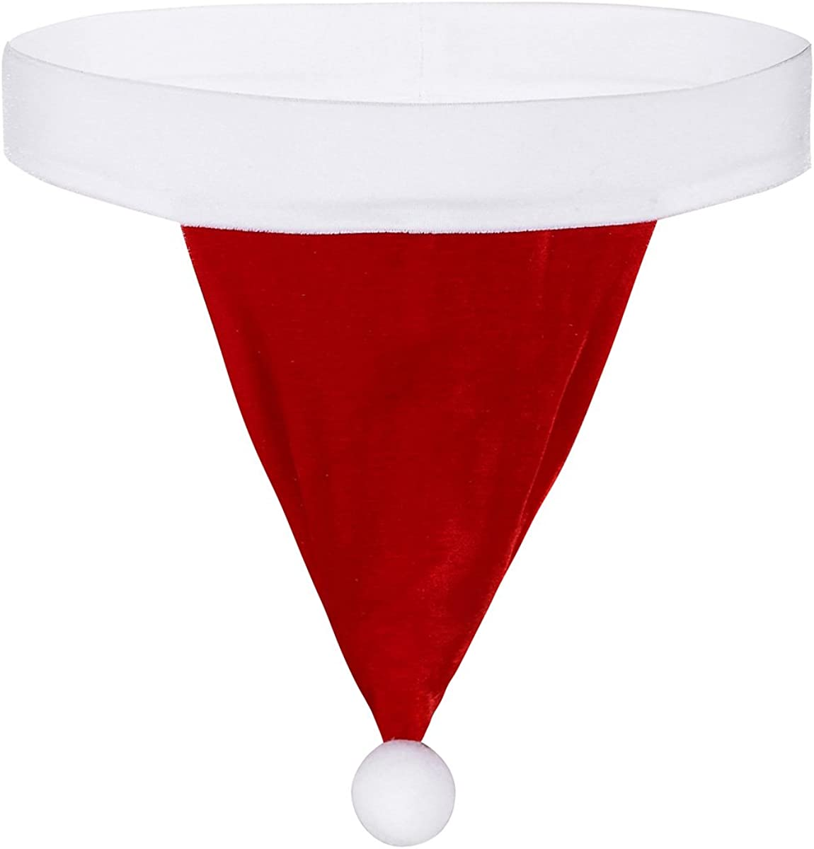MSemis Mens Christmas Santa Hat Cosplay G-String Thongs Underwear with Small Bell