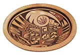 Dee Setalla, Bowl, Hand Coiled Pottery, Hopi Handmade, 3.25 in x 12.5 in