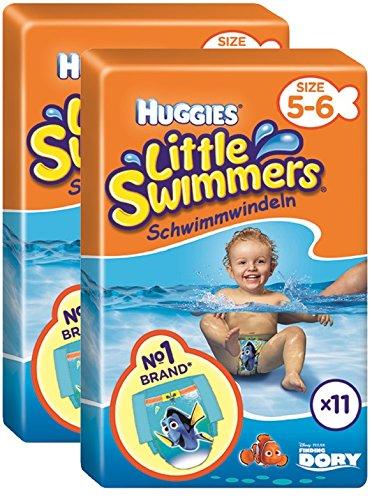 7a45eb663287 Huggies Little Swimmers - Pañales para nadar, talla 5/6 (12-18 kg ...