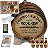 Personalized Whiskey Making Kit (062) - Create Your Own Tennessee Bourbon Whiskey - The Outlaw Kit from Skeeter's Reserve Outlaw Gear - MADE BY American Oak Barrel - (Oak, Black Hoops, 3 Liter)