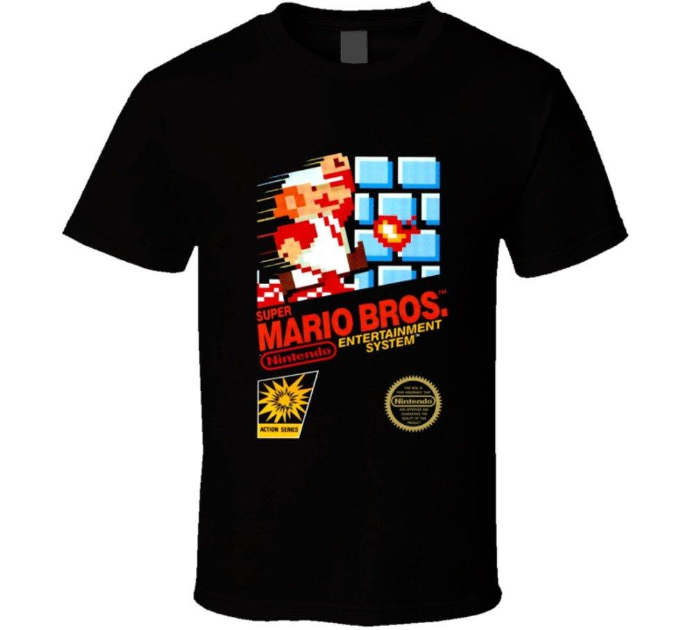 Super Mario Bros Nes Black Box Video Game Shirts