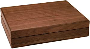 Walnut Grove Solid Wood Walnut Keepsake Treasure Box (Large)