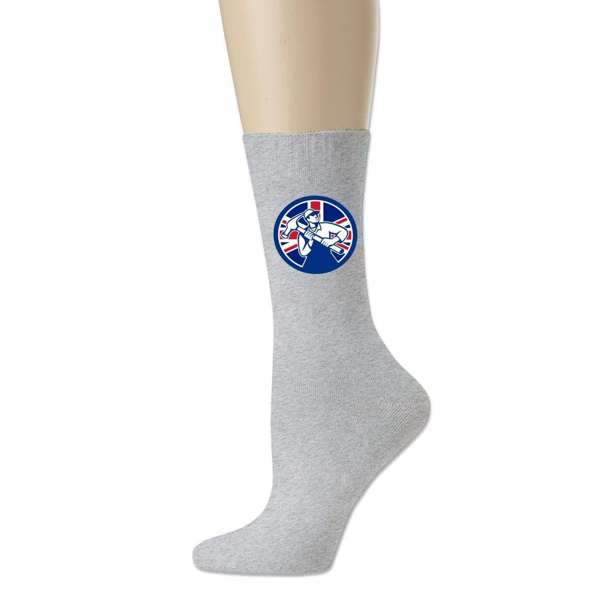 Rigg-socks British Joiner Union Jack Flag Icon Mens Comfortable Sport Socks Black
