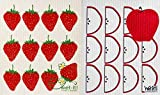 Wet-it! Swedish Treasures Dishcloth and Cleaning Cloth - Set of 2 - Fruits Series (Strawberries & Apple Slices)