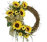 Yellow Sunflower Wreath WR4900