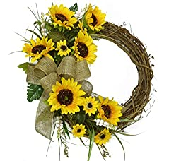 Yellow Sunflower Wreath WR4900