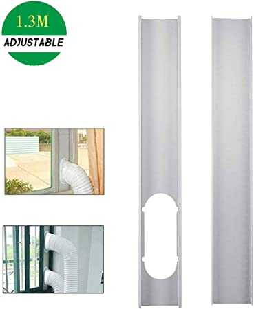 Kit de adaptador de ventana de plástico portátil para manguera de vidrio deslizante, adaptador de ventana para aire acondicionado, conector de tubo portátil para aire acondicionado: Amazon.es: Hogar