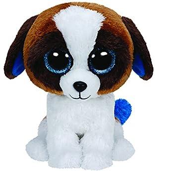 Ty - Duke, peluche perro San Bernardo, 23 cm, color blanco y marrón