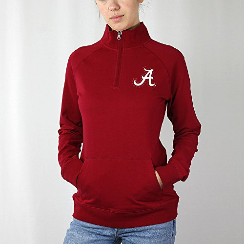 Elite Fan Shop Alabama Crimson Tide Women's Quarter Zip - XL - Dark (Alabama Quarter Roll)