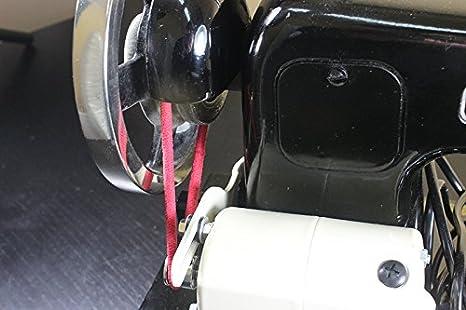 La Canilla ® - Correa Motor Máquina de Coser (Blanca): Amazon.es ...