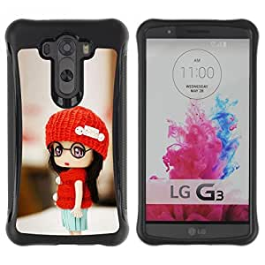 LASTONE PHONE CASE / Suave Silicona Caso Carcasa de Caucho Funda para LG G3 / Cute Toy Girl