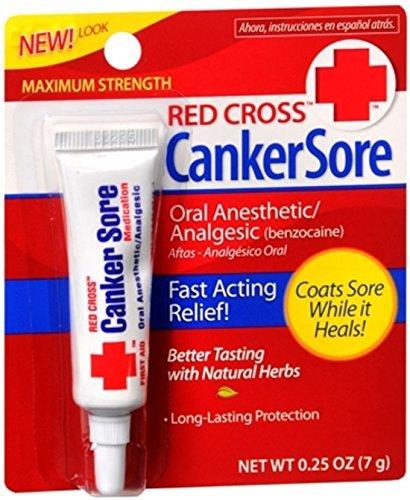 Red Cross Canker Sore Medication 0.25 oz (Pack of 10) ()