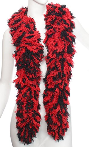 Super-Sized Featherless Boa (XL, Black Red)]()
