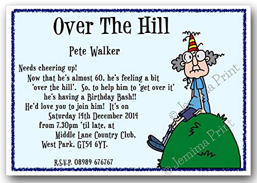 10 Personalised Birthday Party Invitations 18th 21st 30th 40th 50th