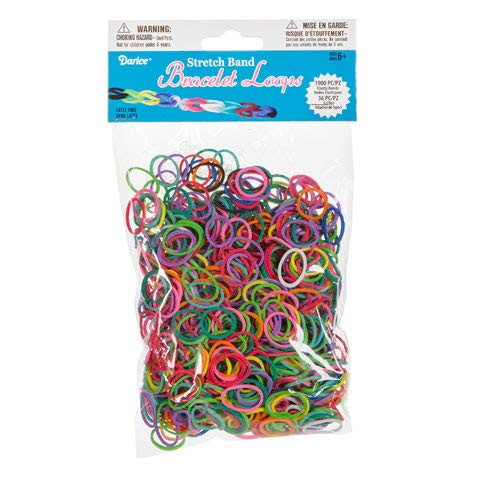 (Darice 1036-Piece Stretch Band Bracelet Loops and S-Clips Set,)