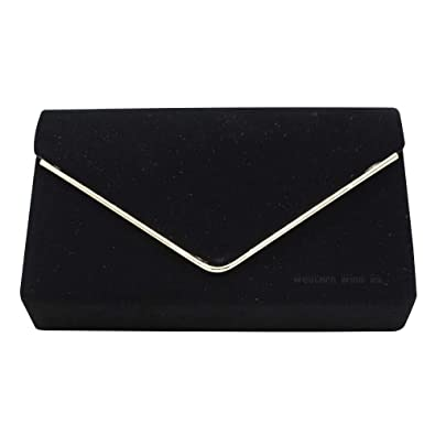 NEW ROYAL BLUE FAUX SUEDE EVENING DAY CLUTCH BAG GOLD WEDDING PROM PARTY CLUB