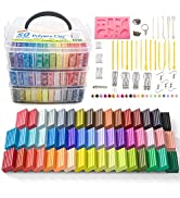 Polymer Clay, Shuttle Art 50 Colors 1.3 oz/Block Soft Oven Bake Modeling Clay Kit, 19 Tools and 1...