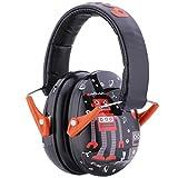 Snug Kids Earmuffs/Hearing Protectors – Adjustable Headband Ear Defenders for Children and Adults (Robots)