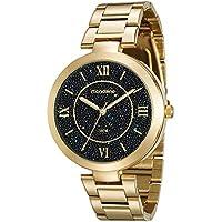 Relógio Just Dance com Cristais Caviar Dourado