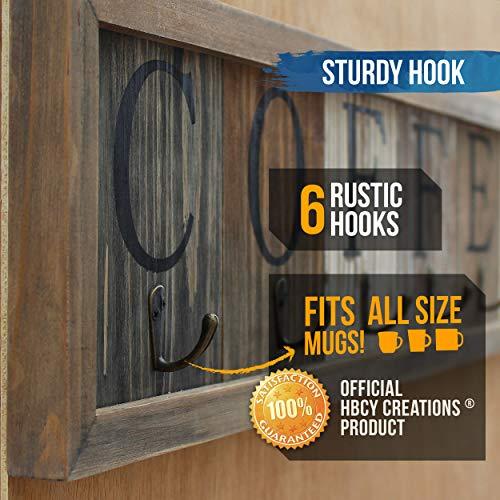 Amazon.com: HBCY Creations – Soporte rústico para taza de ...