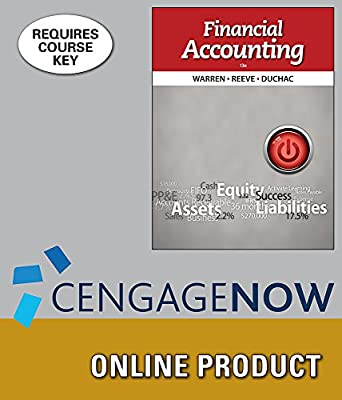 CengageNOW for Warren/Reeve/Duchac's Financial Accounting, 13th Edition