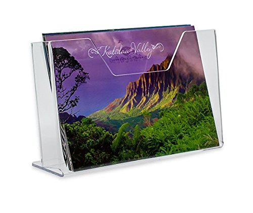 SourceOne Premium PostCard Holder Stand Rack Display Horizontal (1 Pack)