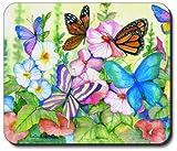 Garden Butterflies Mouse Pad - By Art Plates