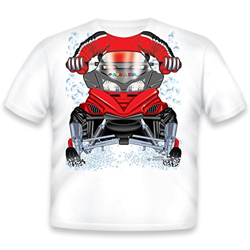 Price comparison product image Just Add A Kid Little Boys' Snowmobile T-Shirt 2T White