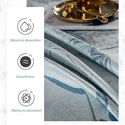 Youlubedding Feuilles de Style européen de Glace en Soie, Trois pièces Ensemble sur Le lit Double, Lavable et Pliable, Encrypted Fibre Weave, avec 2 Taies,D,250 * 250cm